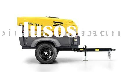 Atlas copco portable air compressor,XAS 185 JD7 (HardHatTM & Steel)