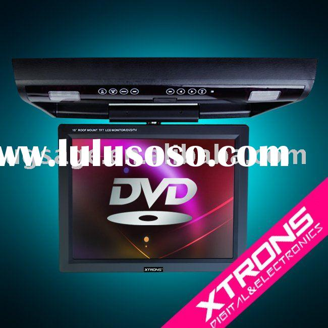 CR1502 Flip down DVD Player car roof dvd player with Built-in IR and TV tuner