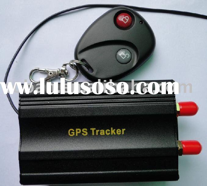 Car GPS tracking device with location address on server and sms message