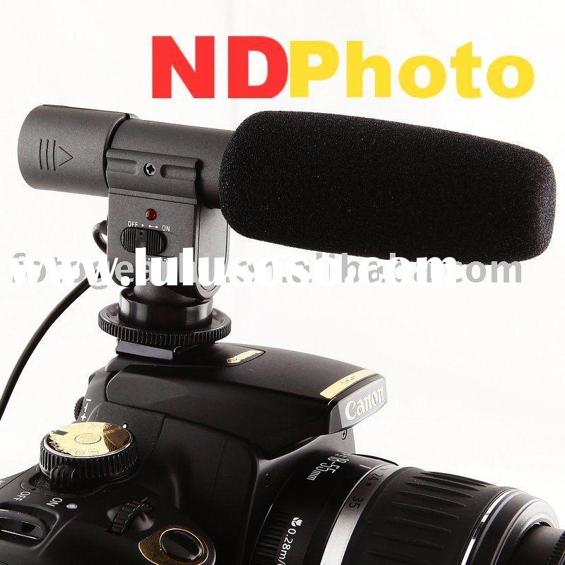 Digital Camera Accessory DV stereo microphone for Canon 5D Mark II 7D 550D GH1