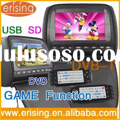 "Erisin Car Head Rest DVD 9""LCD monitor TV fm radio"
