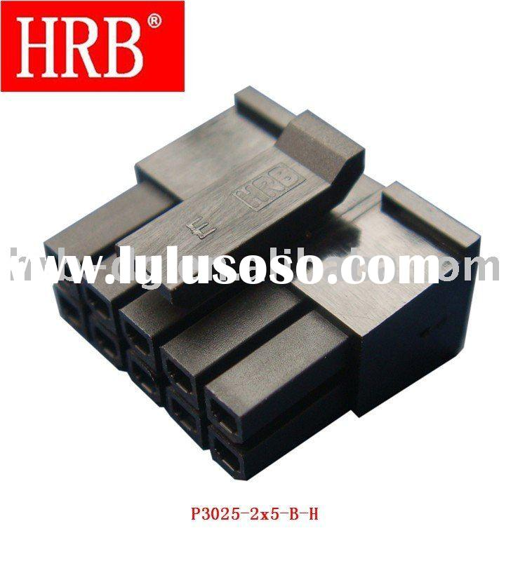 "HRB 3.00mm (0.118"") pitch dual row 10 pin wire male connector"