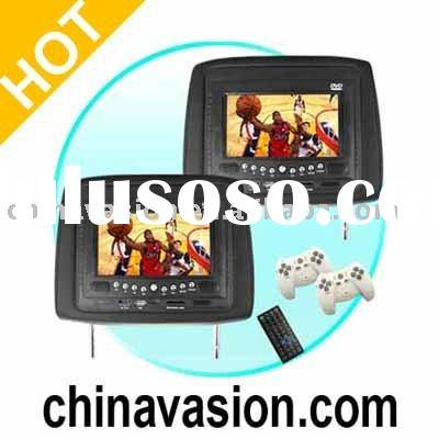 In Car DVD Player/Game System - 7 Inch Headrest Car Display