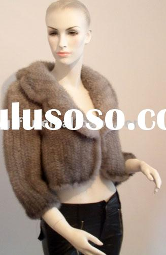 Knitted mink fur coats(jackets/outer wear /garment)
