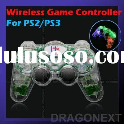 LED Glowing Wireless Game Dual Shock Controller For Sony Playstation 2 3