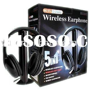 MH2001 Wireless Headphone MIcphone FM Radio headsets 5 in 1 for MP3 PC TV CD