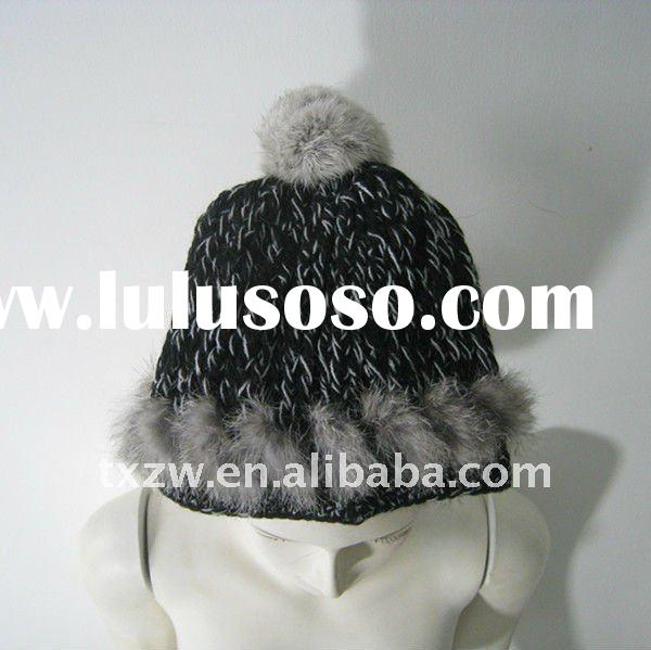 New collection knitted rabbit fur hat 09535