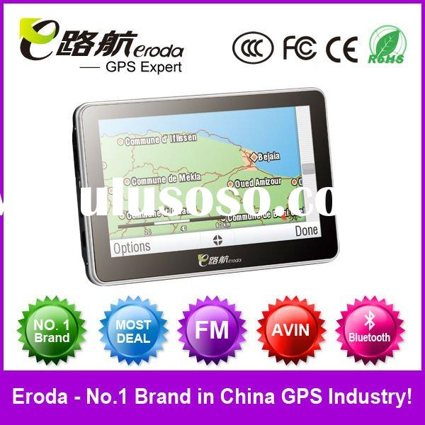 Portable Car GPS navigation supports DVB-T, ISDB-T