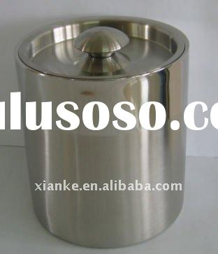 Premium 2.0L Double Wall Stainless Steel Ice Bucket with Mixed Finish