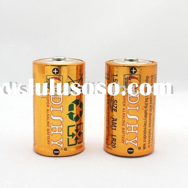 Primary LR20 Alkaline battery 1.5V D size