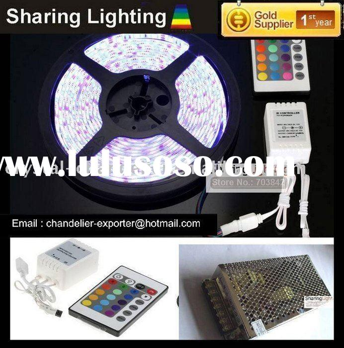 RGB LED Strip 300x SMD 5050 Waterproof + Remote Controller + Power Supply