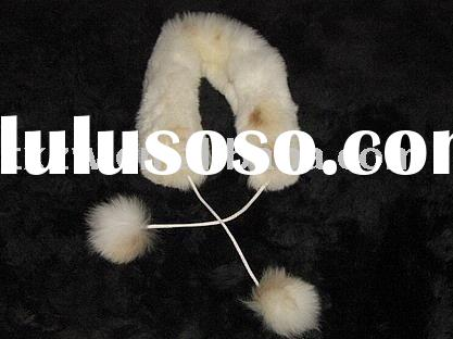 Rex rabbit fur scarf
