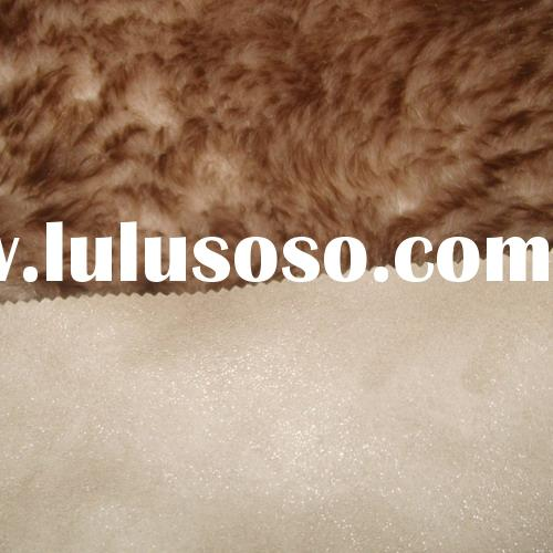 SYNTHETIC FUR BONDED WITH SUEDE FABRIC FOR SHOE