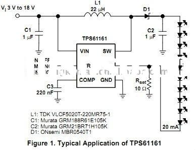 TWhite LED Driver with Digital and PWM Brightness Control in 2mm x 2mm QFN Package IC PS61161DRVR