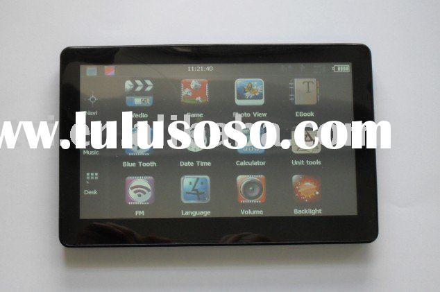 Top sales 7 inch Car GPS with FM Bluetooth AV-in+ Freeshipping