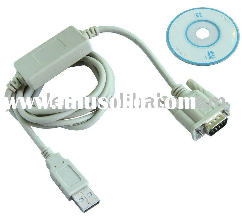 USB to serial port converter USB2.0 AM plug to DB9M with DuaL IC Chip PL2302HX ),1.5m long cable