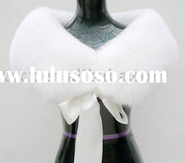 White Fox Fur Cape