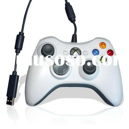 White Wired Game Controller For Microsoft Xbox 360 Console