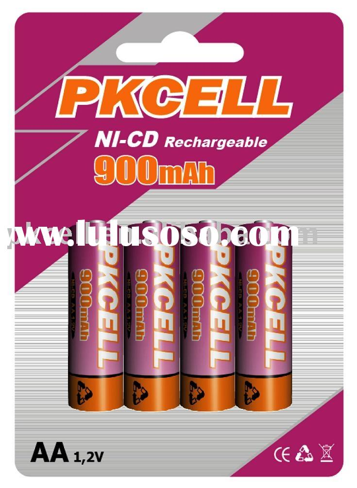 aa size Nicd rechargeable Battery with 1.2v