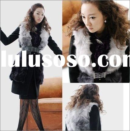 beautiful style women/ladies' fox fur vest ss157