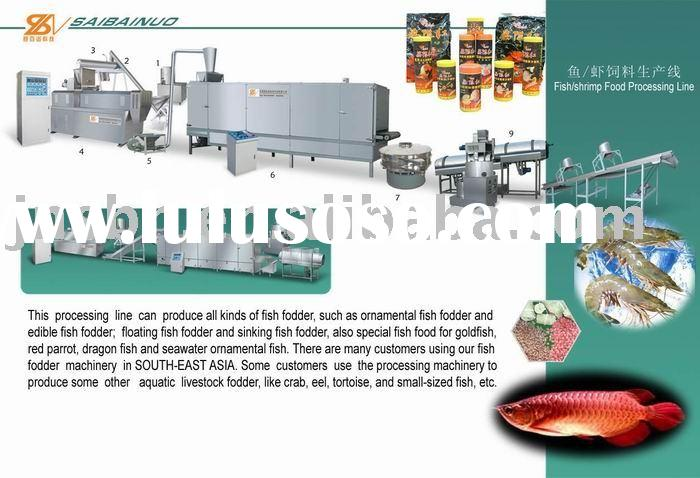 fish food processing machine/ floating fish food machine/ fish feed pelleting machine/ fish food mac