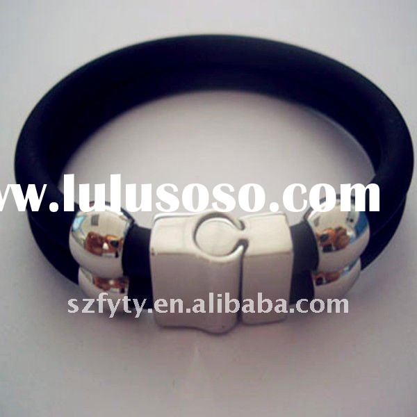 new energy stainless steel silicone bracelet