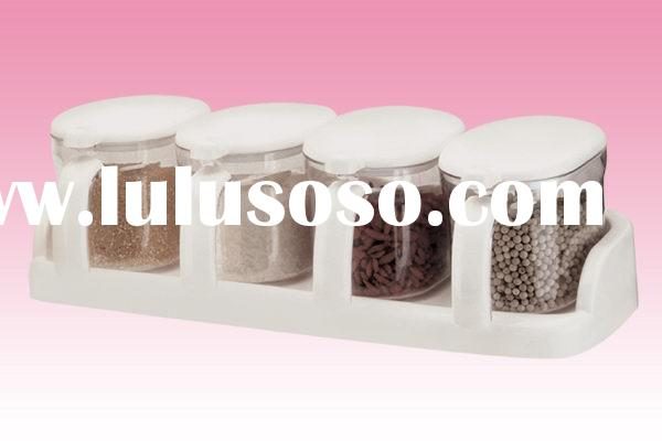 plastic spice container for sugar,salt...(4 box)