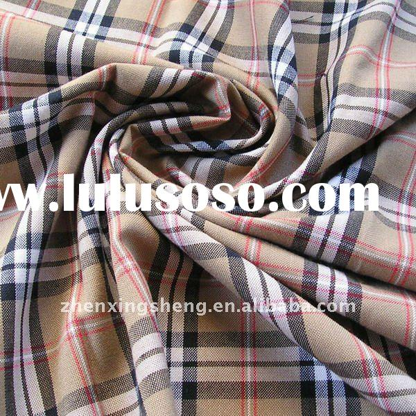 yarn dyed tartan polyester rayon/viscose spandex fabrics for womens winter clothing