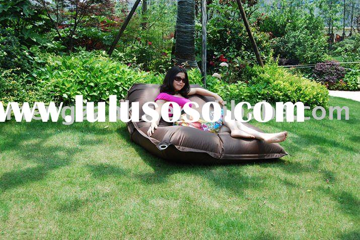 100% Polyester fabric Outdoor beanbag cushion to be sofa bed for indoor and outdoor use