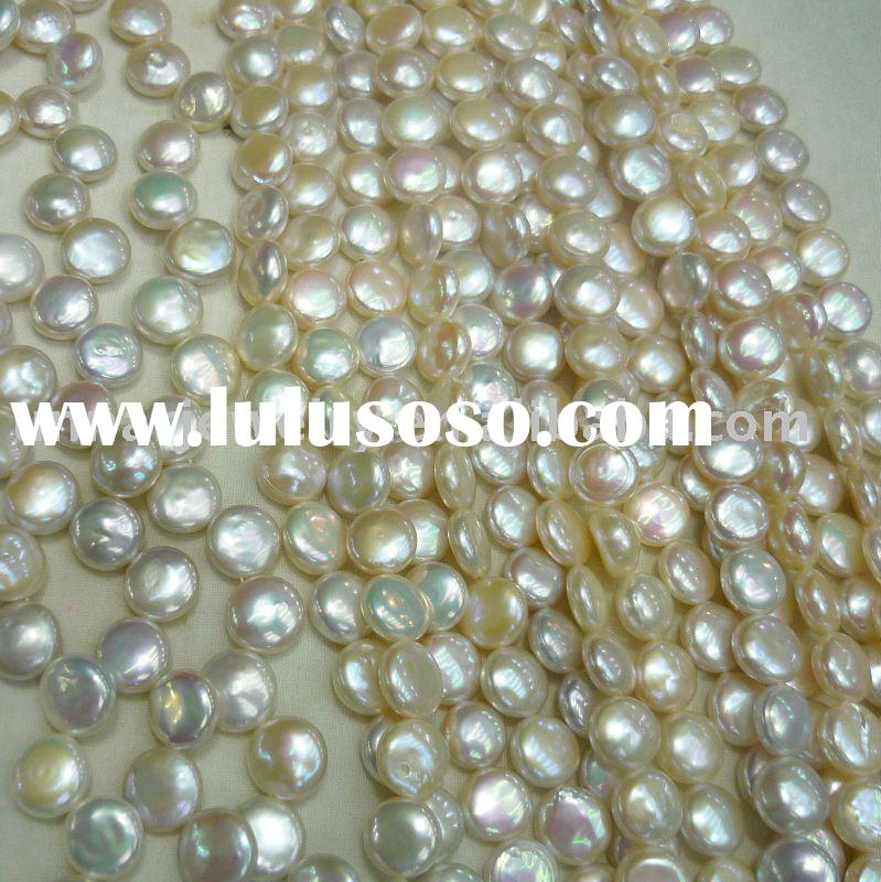 10-12mm AAA freshwater coin pearl strand