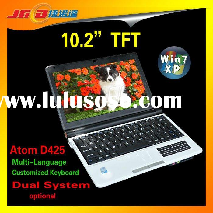 10.2 inch 5 colorful Mini laptop Windows XP Intel Atom D425 1.8GHZ RAM 4GB HDD 500GB Camera WiFi Hot