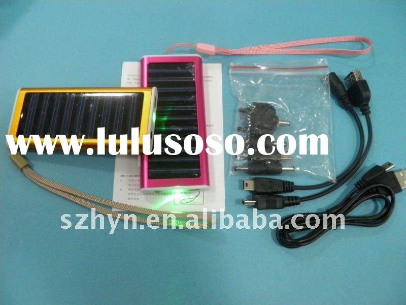 1350mAh Li-ion solar charger for Iphone &mobile phone &camera