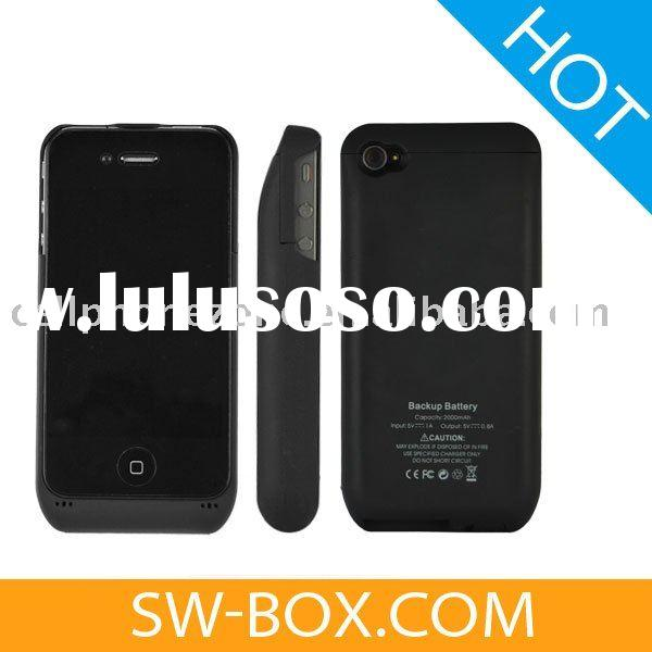 2000mAh External Battery Charger Power Pack for iPhone 4 - Black /for iphone 4 charger
