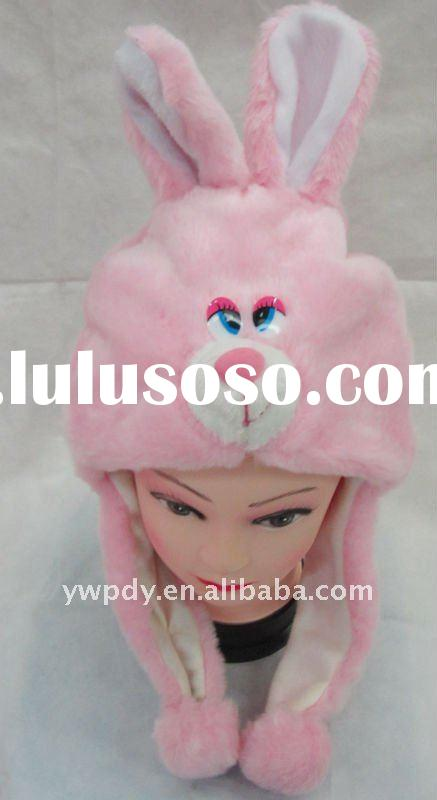 2011 Cute Caps Pink Rabbit Hats Winter Animal Hat