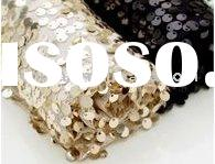 2011 hot sale sequin material leather for bags