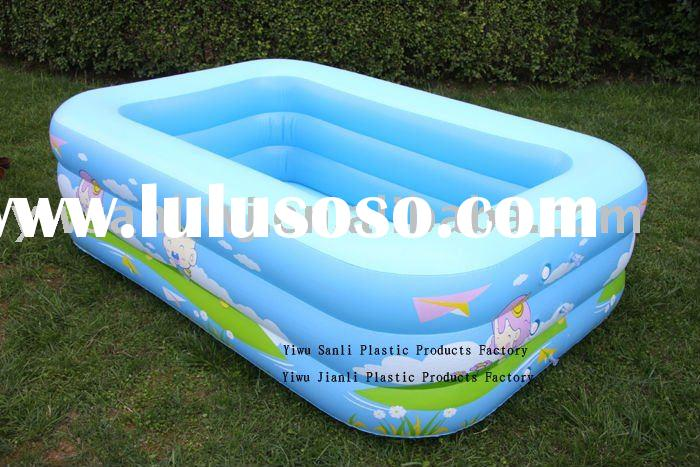 2012 2.4m good usable pvc inflatable ground swimming pools for kids