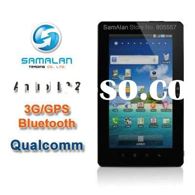 """2012 Hot Sell 7"""" 3G/GPS/Bluetooth Qualcomm Tablet pc"""