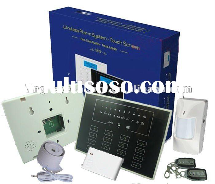 2012 intelligent CID DIY wireless home GSM alarm system