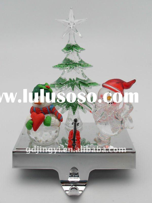 2012 new design acrylic standing christmas stocking holder
