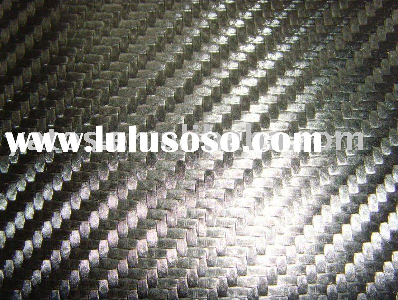 3D Black Carbon Fiber Imitation Leather