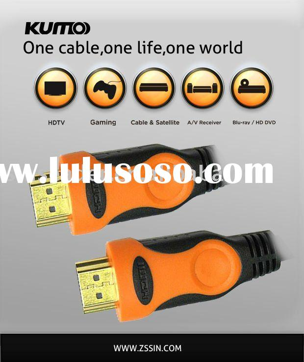 3D HDMI cable,HDMI 1.4,1.8m length for use in HDTV, Home Theater, DVD player,game consoler