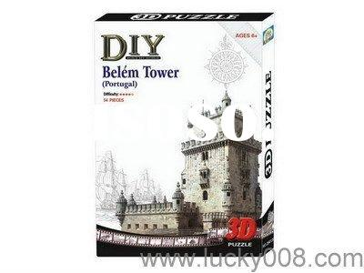 3D PUZZLE OF HOUSE - BELEM TOWER(PORTUGAL)
