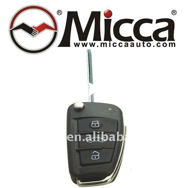 3-button with Flip Key Metal Car Alarm/Keyless Entry Remote Control/Transmitter(RT715)