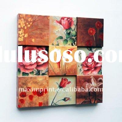 3d canvas painting Modern Fashion 3D Giclee Canvas Flower Painting with 5 raised parts
