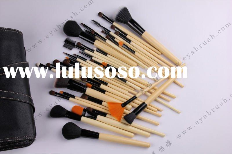 40-piece Cosmetic/Makeup Brush Set with Pony and Synthetic Hair, Various Handle Colors are Available