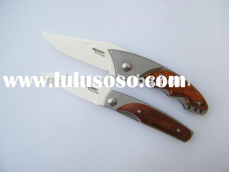 4.2inch Folding ceramic knife with white blade(hs)