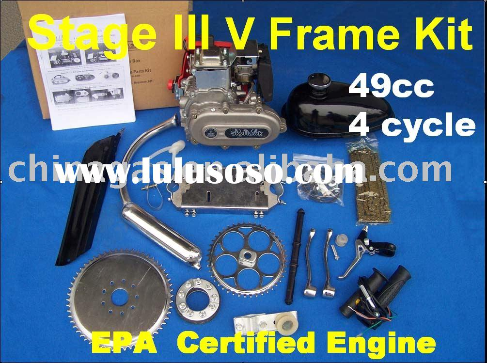 4 cycle bicycle Engine Kits Stage III V Frame Kit