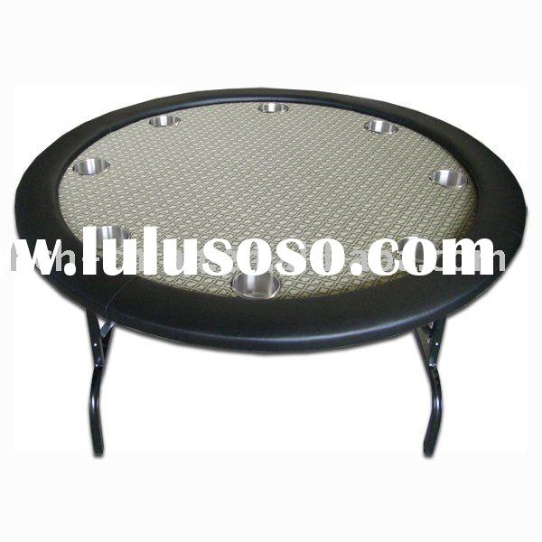 60 Inch Round Poker Table Top 52 inch round poker table with golden suited speed cloth 52 inch round ...