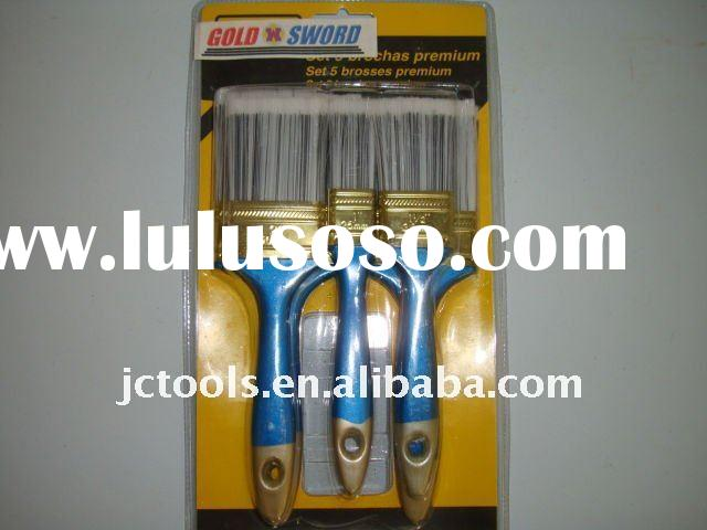 5PCS plastic handle paint brush set