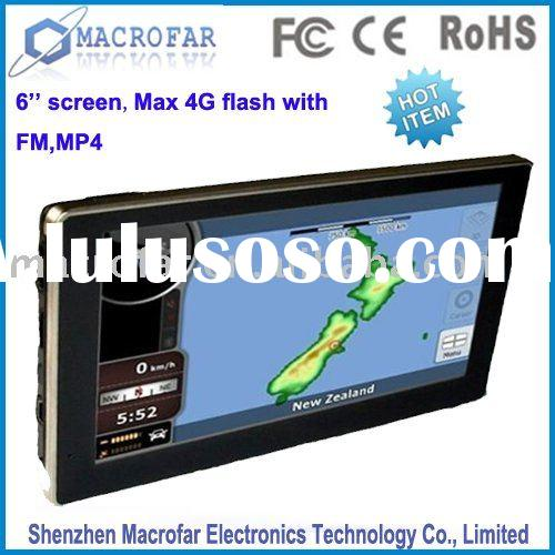 6 inch touch screen android gps with free map(MF-le-060A)